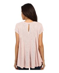 B Collection By Bobeau - Pink Posy Swing Knit T-shirt - Lyst