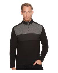 Calvin Klein - Black Color Blocked Chest Stripe 1/4 Snap Knit for Men - Lyst