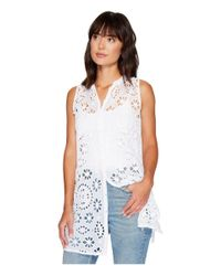 Johnny Was - White Camioni Eyelet Tunic - Lyst