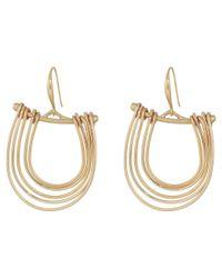 Robert Lee Morris - Metallic Gold Gypsy Hoop Earrings - Lyst