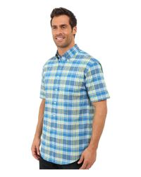 Pendleton - Blue S/s Seaside Button Down Shirt for Men - Lyst