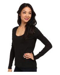 Alternative Apparel - Black Scoop Neck T-shirt Long Sleeve - Lyst