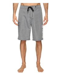 "Hurley - Gray Heathered One & Only 22"" Boardshorts for Men - Lyst"