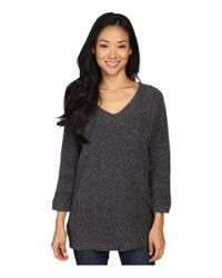 Lilla P - Gray Boucle V-neck Tunic - Lyst