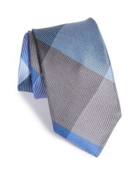 Michael Kors | Blue 'jumbo Plaid' Silk Tie for Men | Lyst