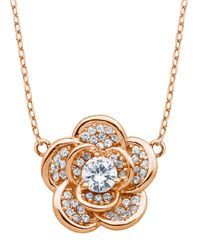 Lord & Taylor | White Angels And Fashion Newness Glitz And 18K Rose Gold Rose Pendant Necklace | Lyst