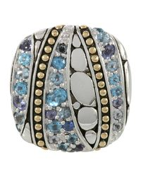 John Hardy | Blue Kali Lavafire & Sea Ring | Lyst