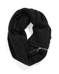 Michael Stars | Black 'zip To It' Infinity Scarf | Lyst