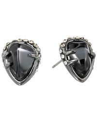 Alexis Bittar - Black Encrusted Stud W/ Fancy Hematite And Crystal Glass Doublet - Lyst