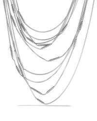 David Yurman | Metallic Willow Five-row Chain Necklace | Lyst