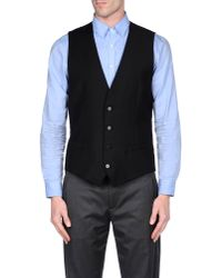 Dolce & Gabbana - Black Waistcoat for Men - Lyst