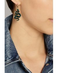 Marc By Marc Jacobs | Black Gold-Tone, Acetate And Cubic Zirconia Snake Earrings | Lyst