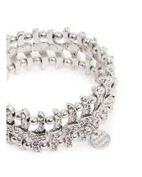Philippe Audibert - Metallic Concord Weave Swarovski Crystal Bracelet - Lyst