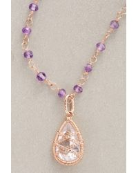 Anthropologie | Purple Arethusa Necklace | Lyst