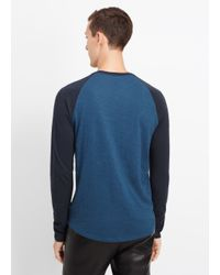 Vince - Black Refined Slub Cotton Baseball Tee for Men - Lyst