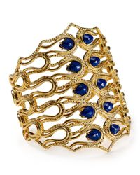 Alexis Bittar | Blue Scalloped Aigrette Lapis Cuff | Lyst
