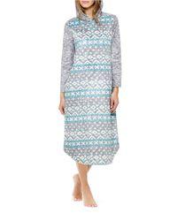 Ellen Tracy | Blue Hooded Fleece Nightgown | Lyst