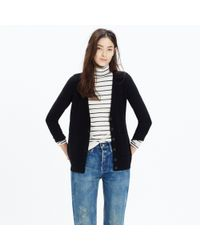 Madewell - Black University Cardigan Sweater - Lyst