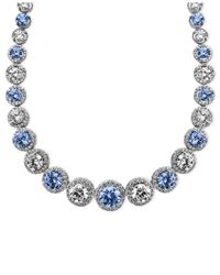Arabella | Blue And White Swarovski Zirconia Necklace (54 Ct. T.W.) | Lyst