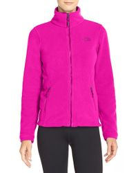 The North Face - Pink 'palmeri' Fleece Jacket - Lyst