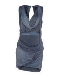 Elisabetta Franchi - Blue Short Dress - Lyst