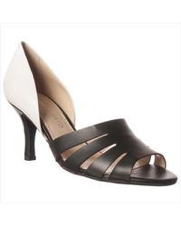 240801b829fc Franco Sarto Isadora Open-toe Pump in Black - Lyst