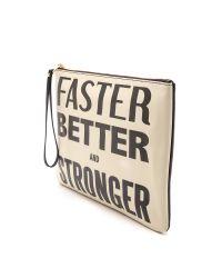 Karen Walker - Natural Faster Better and Stronger Clutch Creamblack - Lyst