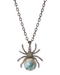 Siena Jewelry - Metallic Diamond Labradorite Spider Pendant Necklace - Lyst