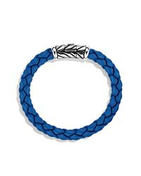 David Yurman - Chevron Rubber Weave Bracelet In Blue, 8mm for Men - Lyst