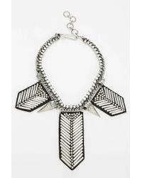 Urban Outfitters | Metallic Arrowonleather Bib Necklace | Lyst
