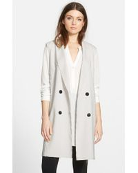 Trouvé | White Raw Edge Long Vest | Lyst