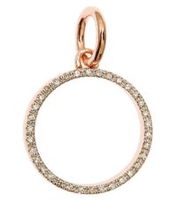 Monica Vinader - Metallic Rose Gold-Plated Diva Circle Pendant - Lyst