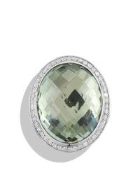 David Yurman | Green Oval Ring With Prasiolite And Diamonds | Lyst