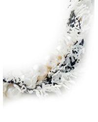 Lanvin - White Fluffy Necklace - Lyst