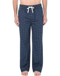 Lacoste | Blue Checked Woven Pyjama Bottoms, Men's, Size: Xl, Navy for Men | Lyst
