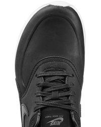 Nike - Air Max Thea Premium Leather Sneakers - Black - Lyst