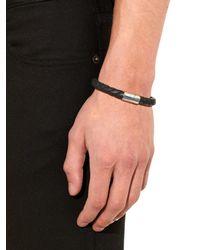 Bottega Veneta | Black Intrecciato Leather Magentic Bracelet for Men | Lyst