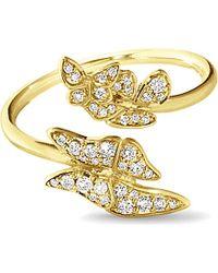 Georg Jensen - Metallic Askill 18ct Yellow-gold And Pavé Diamond Ring - Lyst
