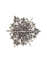 Saint Laurent | Metallic Crystal Pavé Brooch | Lyst