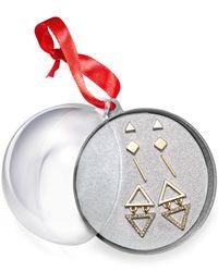 Macy's - Metallic Robert Rose Two-tone Geometric Earring Set - Lyst