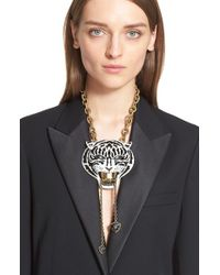 Lanvin - Black Small Bengal Tiger Lariat Necklace - Lyst