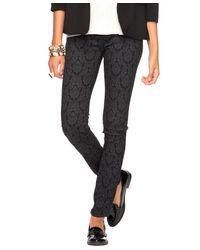 Forever 21 - Black Damask Skinny Jeans - Lyst