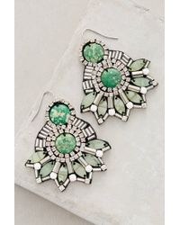 Anthropologie | Green Ahila Beaded Drops | Lyst