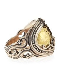 Konstantino - Metallic Sterling Silver Ring with Hammered 18k Gold - Lyst