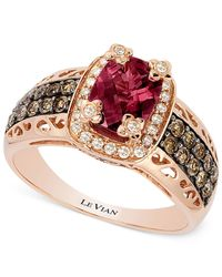 Le Vian - Red Raspberry Rhodolite Garnet (1-3/4 Ct. T.w.) And Diamond (3/8 Ct. T.w.) Ring In 14k Rose Gold - Lyst