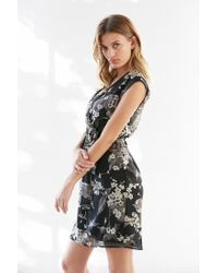 Kimchi Blue | Black Straight Wrap Dress | Lyst