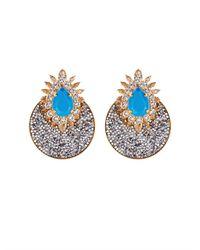 Shourouk | Blue Luna Crystal-Embellished Earrings | Lyst