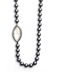 St. John | Metallic Swarovski Crystal & Glass Pearl Rope Necklace | Lyst