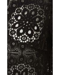 Temperley London - Black Nomi Lace Crop Top - Lyst
