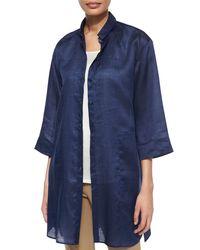 Lafayette 148 New York | Blue Melody Long Shirtdress Blouse | Lyst